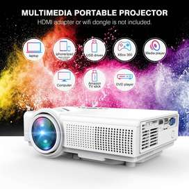 Q5 LED Mini Movie Projector Support 1080P HDMI USB TF VGA AV, Multimed