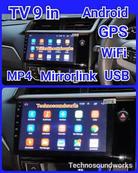 Tv 9 in Android mobil YouTube gps head unit mp4 usb grosir paket sound