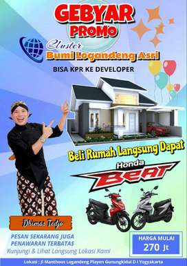 Perumahan KPR tanpa BANK di pusatkota Wonosari Gunungkidul, YOGYAKARTA