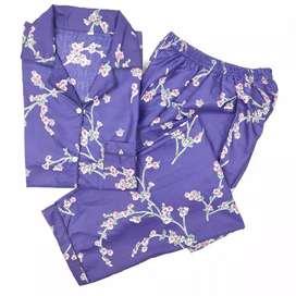 Piyama wanita dewasa celana panjang lisa
