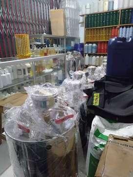 Paket bisnis laundry - Setrika uap gas - mesin pengering