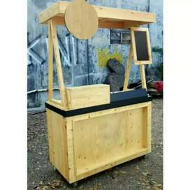 Booth kekinian, booth kayu jati belanda, booth minuman boba