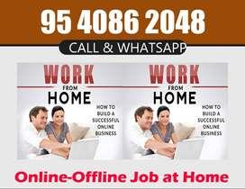 )Computer operator job/ PDF to MS- word offline work/home based data