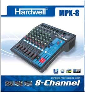 Mixer 8 channel Hardwell MPX8 MPX 8 Efek digital Reverb ORIGINAL