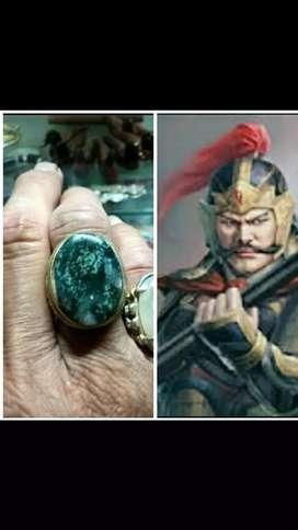 Cin cin akik dobel gambar atas tentara bawah mata dewa natural alam