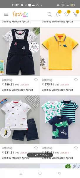 All type of kids cloth