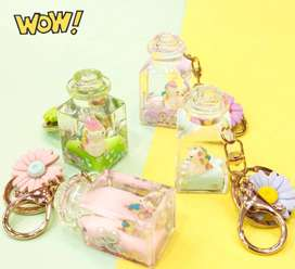 Keychains Acrylic Water Filled Jelly Cup (Gift Item)