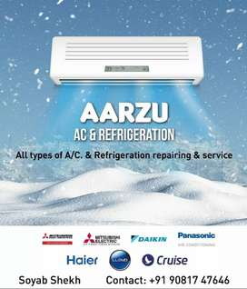 Ac fitting and. service and. repairing and. Juna Nava AC seling