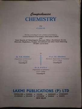 COMPREHENSIVE CHEMISTRY CLASS 11TH,LAXMI PUBLICATIONS