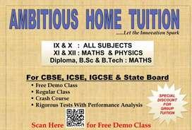 Ambishas home tution for CBSC. ICSE. IGCSE. N. State  bord