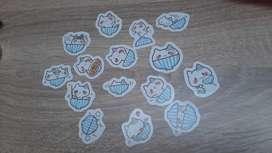 Sticker stiker lucu paket set kucing cat kitty