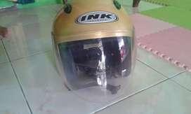Helm INK kuning.retro.kondisi msh bgus