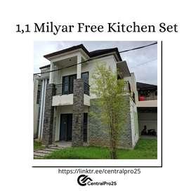Rumah Siap Huni Mewah Pontianak Danau Sentarum Bonus Kitchen Set
