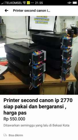 Printer canon ip 2770+ infus siap pakai dan bergaransi