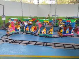 OKT wahana kereta lantai odong 2 lokomotif minicoaster full set