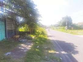 Tanah strategis pinggir jalan berbah cocok untuk gudang atau perumahan