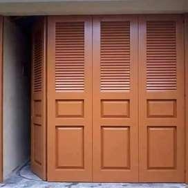 Pintu lipat garasi,ruko dan toko bahan besi galvanis anti karat