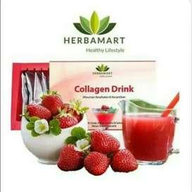 Collagen drink strawberry herbamart (10 sacht)