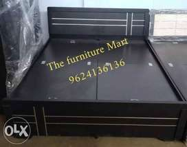 Black And Brown Wooden bed