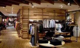 2000 sq ft furnished showroom in main raja park prime location