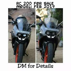 Rc 200 2019 model in mint condition