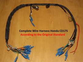 Complete Wire Harness Honda CD175, #CD200, #Road Master