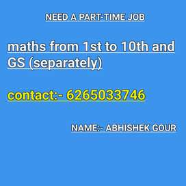 Maths from 1st to 10th and GS(separately)