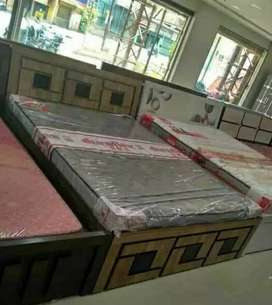 Brand new double bed with mattress in great design at best price