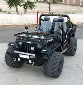 Modified jeep in monster tyres