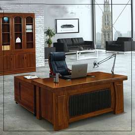 Imported Desk with Side Rack and Drawer Box