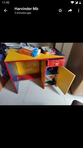 Big study table ,kids study table chair