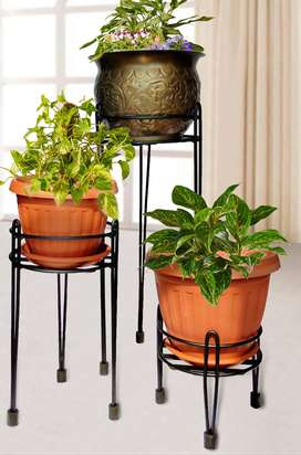 Livewell Green NEW Elegant Designer Flower Pot Stands made of STEEL