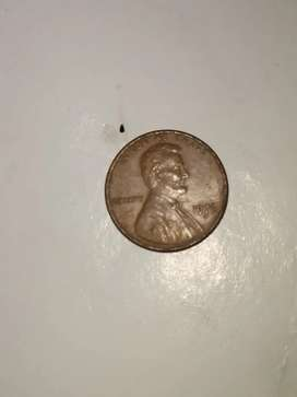 Liberty Lincoln penny 19 76 coin