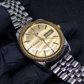 Jam tangan vintage presiden Rado Voyager automatic gold full original