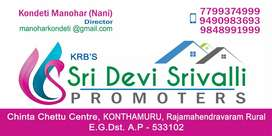 Ready to construction site for sale in Konthamuru
