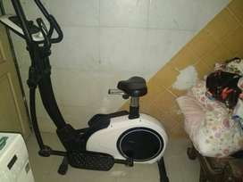 excercise bycycle and elliptical trainer