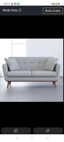 jual sofa retro minimalis 2seater klasik modern free ongkir Jateng DIY