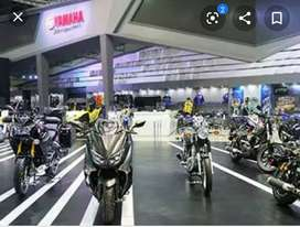 Yamaha showroom sales post requirement urgently