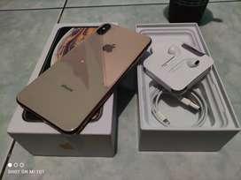 IPHONE XS MAX 64GB GOLD MULUS 99,99% NO MINUS