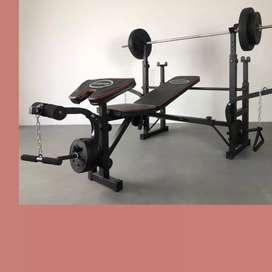 multi gym bench press id-784 beban 40kg home gym