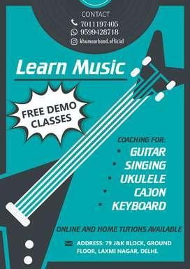 learn music online, offline. GUITAR, SINGING, UKULELE, KEYBOARD.