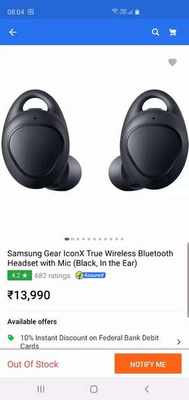 SAMSUNG GEAR ICON  X ONLY 2 OR 3 TIMES USED ONLY 6000 FIXED PRICE