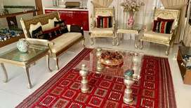 Sofa set with centre table & 2 side tables