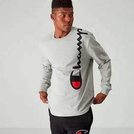 Champion long sleeve over the shoulders logo grey