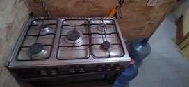 5 Gas Stove & microwave oven (All in One)