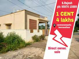 Saravanampatty Dtcp site for sale in keeranatham IT PARK