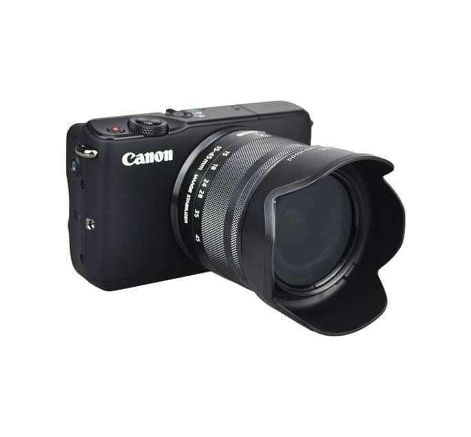 Lens Hood EW-53 Canon EF M 15-45mm Lensa Kit EOS M100, M6, M5, M3, dll 0