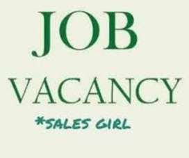 Sales girl required for mobile shop