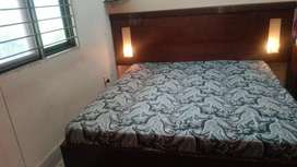 double Bed dressing table  side tables and matress