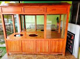 Gerobak soto/bakso istimewa kayu jati murah